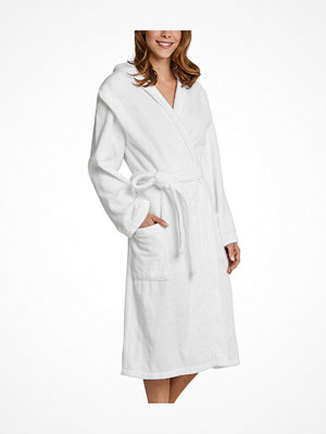 Morgonrockar - Schiesser Essentials Bathrobe With Hood White