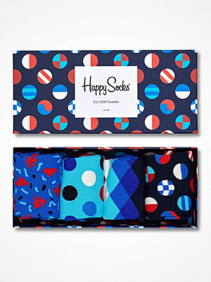 Happy Socks 4-pack Happy Socks Navy Gift Box 650 Multi-colour