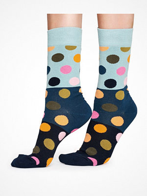 Happy Socks Happy Socks Big Dot Block Sock Blue Pattern