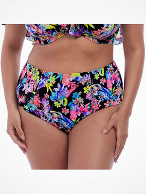 Elomi Swim Electroflower Classic Bikini Brief Black pattern-2