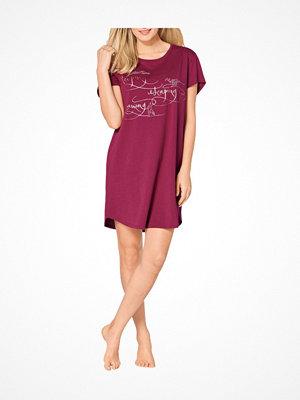 Triumph Lounge Me Cotton Nightdresses NDK0119 Wine red
