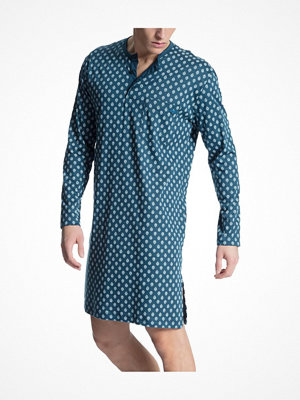 Pyjamas & myskläder - Calida Relax Streamline 1 Nightshirt Blue Pattern
