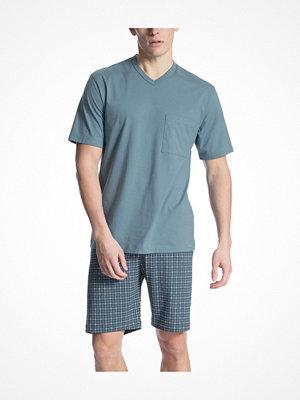 Calida Relax Imprint 1 Short Pyjama Blue