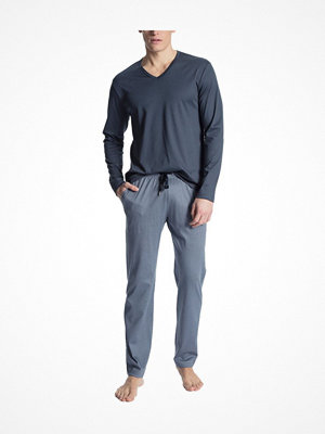 Calida Casual Grafic Pyjama Navy pattern