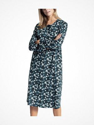 Nattlinnen - Calida Soft Comfort Nightsdress Blue w Flower