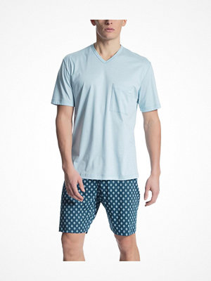 Pyjamas & myskläder - Calida Relax Streamline 2 Short Pyjama Blue Pattern