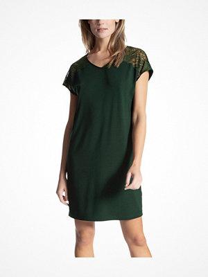 Nattlinnen - Calida Cosy Glam Sleepshirt Darkgreen