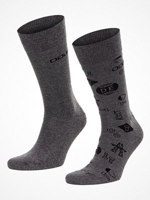 Hugo 2-pack RS Icons CC Socks Grey/Darkgrey