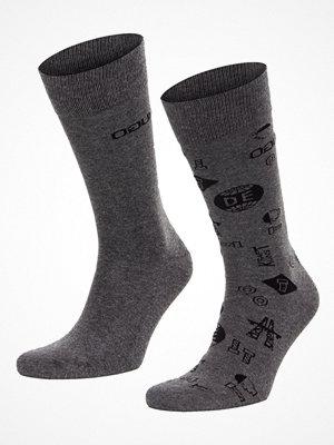 Strumpor - Hugo 2-pack RS Icons CC Socks Grey/Darkgrey