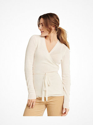 Pierre Robert X Jenny Skavlan Wool Wrap Top Creme-2