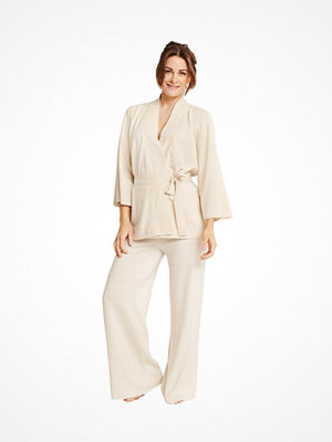 Pierre Robert X Jenny Skavlan Wool Lounge Pants Creme-2