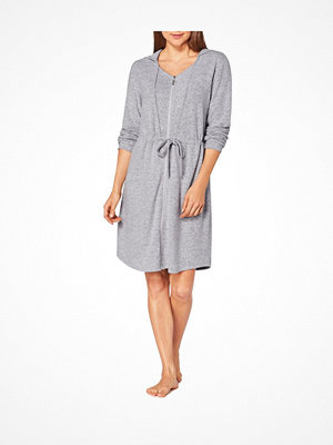 Morgonrockar - Triumph Lounge Me Cotton Climate Thermal Zip Robe Grey