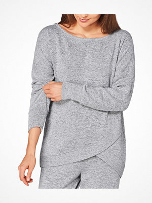 Triumph Lounge Me Cotton Climate Thermal Sweater Grey