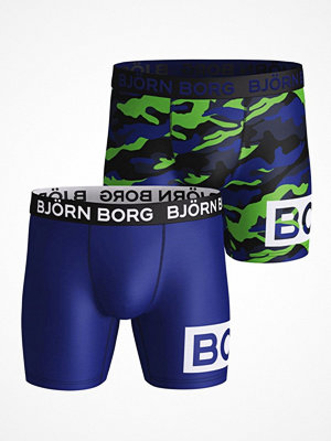 Björn Borg 2-pack Performance Shorts 1932 Blue Pattern