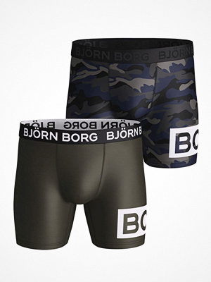 Björn Borg 2-pack Performance Shorts 1932 Black/Green