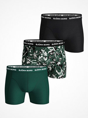 Björn Borg 3-pack Essential Shorts 1933 Green Pattern