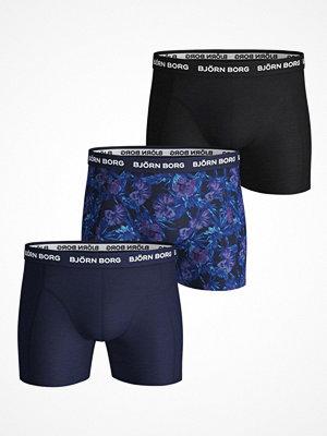 Kalsonger - Björn Borg 3-pack Essential Shorts 1933 Blue Pattern