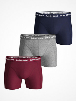 Björn Borg 3-pack Essential Shorts 1933 Red/Grey