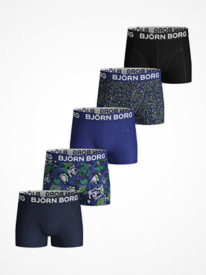 Björn Borg 5-pack Cotton Stretch Shorts For Boys 1935 Blue w Flower