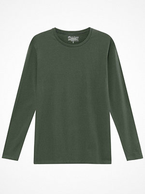 Bread and Boxers Long Sleeve Crew Neck Darkgreen