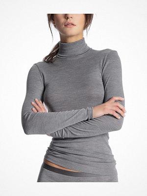 Calida True Confidence Polo Shirt Long Sleeve Grey