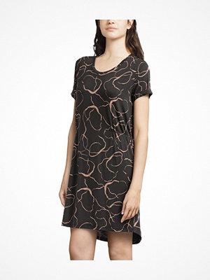 Femilet Lima Big Shirt Short Sleeves Black pattern-2