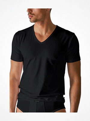 Pyjamas & myskläder - Mey Dry Cotton V-Neck Shirt Black