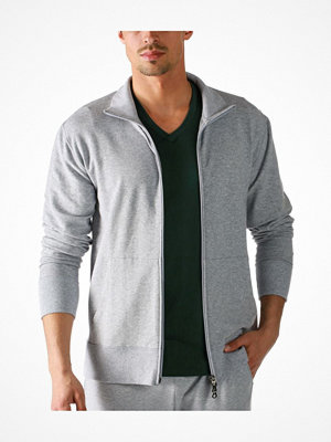 Pyjamas & myskläder - Mey Enjoy Sweat Jacket With Zip Light grey