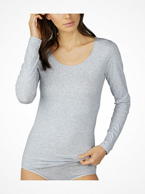 Mey Cotton Pure Long-Sleeved Top Greymarl