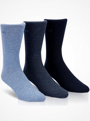 Strumpor - Calvin Klein 3-pack Eric Cotton Flat Knit Socks Lightblue