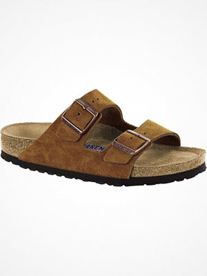 Birkenstock Arizona Suede Mjuk Fotbädd Brown