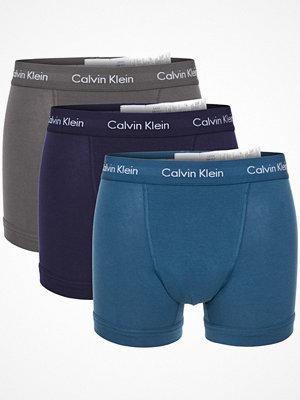 Kalsonger - Calvin Klein 9-pack Cotton Stretch Trunks Grey/Blue