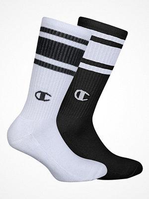 Strumpor - Champion Underwear 2-pack Champion Crew Sock Black/White