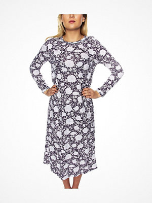 Damella Flower Nightdress LS Lilac Pattern