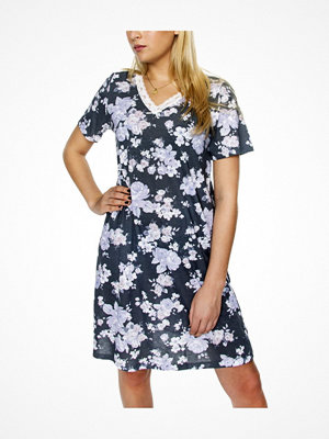 Damella Grey Flower Nightdress SS Grey