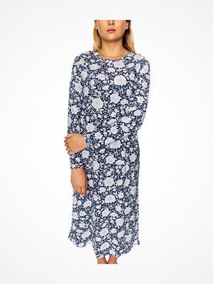 Damella Flower Nightdress LS Blue Pattern