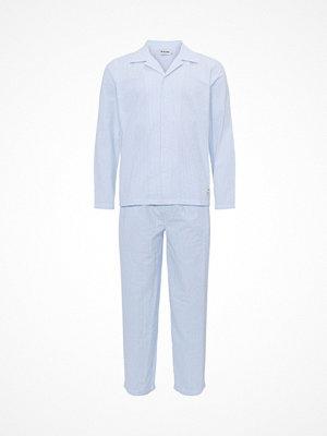 Resteröds Seersucker Pyjama Lt blue Stripe