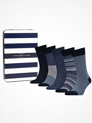 Strumpor - Tommy Hilfiger 5-pack Men Sock Birdeye Giftbox Blue