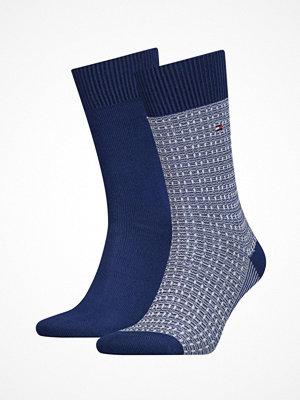 Strumpor - Tommy Hilfiger 2-pack Men Structure Knit Socks Blue
