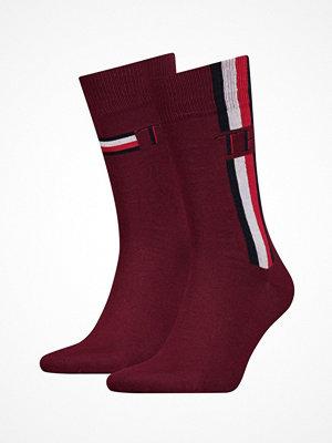 Strumpor - Tommy Hilfiger 2-pack Men Iconic Stripe Socks Red