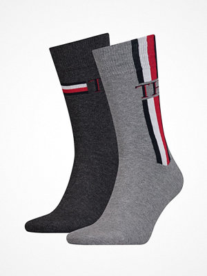 Tommy Hilfiger 2-pack Men Iconic Stripe Socks Grey