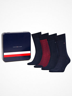 Tommy Hilfiger 4-pack Men Sock Mixed Dots Giftbox Red/Blue