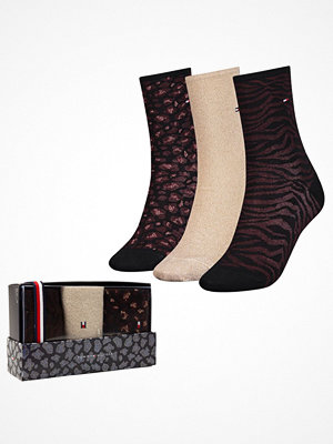 Strumpor - Tommy Hilfiger 3-pack Women Giftbox Socks Multi-colour