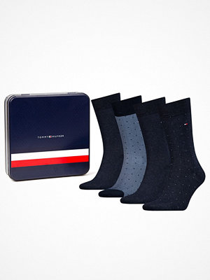 Tommy Hilfiger 4-pack Men Sock Mixed Dots Giftbox Darkblue