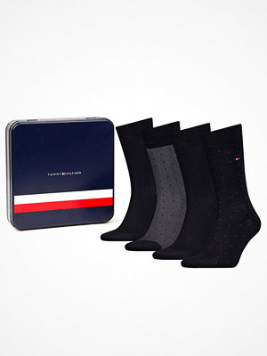 Tommy Hilfiger 4-pack Men Sock Mixed Dots Giftbox Black/Grey