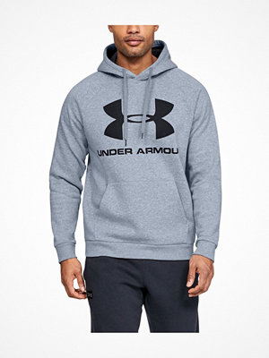 Under Armour Rival Fleece Sportstyle Logo Hoodie Grey