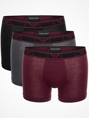 Armani 3-pack Monogram Cotton Boxers Red/Grey
