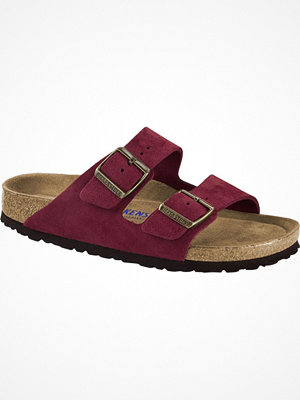 Birkenstock Arizona Suede Mjuk Fotbädd Wine red