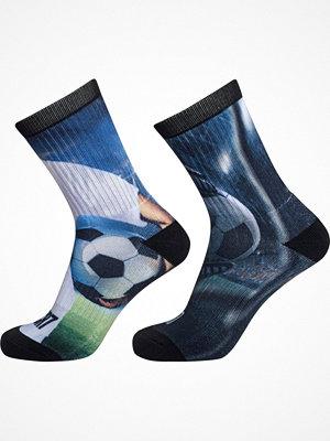 Strumpor - CR7 Cristiano Ronaldo 2-pack Boys Tennis Socks Printed Blue/Green