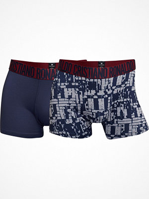CR7 Cristiano Ronaldo 2-pack Fashion Microfiber Trunk Navy/Grey